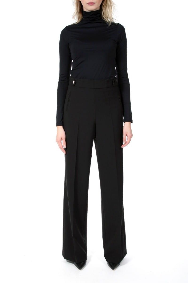 Spodnie Fabienne szeroka nogawka czarny AGGI